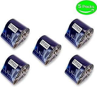 SOJITEK Supereme 保暖树脂丝带斑马兼容 5 Packs Resin 1 3.25 * 1476