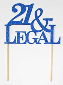 All About Details Blue 21-&-legal Cake Topper