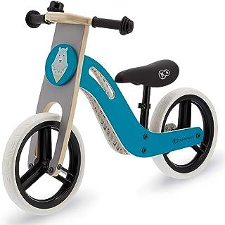 Kinderkraft KKRUNIQTRQ0000 UNIQ 儿童运动自行车木制 12 英寸 蓝色