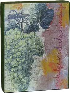 Nancy Dolan 艺术家摇篮面板 4x3英寸(约10.2x7.6厘米) Grapes Indulge dpndacp4x3.005