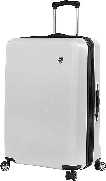 Mia Toro 意大利 Moda Hardside 24 英寸行李箱,白色