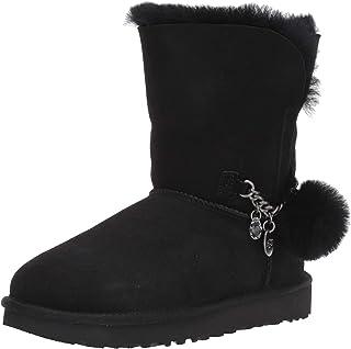 UGG Australia 女士 W 经典短款魅力及踝靴 黑色(黑色) 5 UK