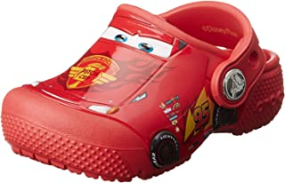 Crocs 男孩 Fun Lab Cars 儿童洞鞋