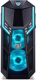 Predator Orion 5000 (PO5-605s) 游戏台式电脑(Intel Core i7-9700K,16 GB RAM,2000 GB HDD + 512 GB PCIe SSD,NVIDIA GeForce RTX 2070 Super (8 GB GDDR6),Windows 10 Home)黑色/蓝色