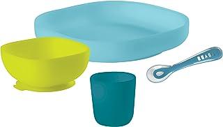 Beaba - 硅胶餐具套装 Blau/Neon