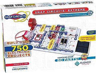 Elenco Snap Circuits Extreme SC-750 电子探测套件  750多件项目  全彩项目手册  80多个Snap Circuits零件  STEM益智玩具 适用于8岁以上儿童