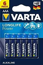 Varta Long life Power 堿性電池 LR03,AAA 單色,6件