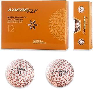 KAEDE Fly Golf 2 只装混合色远距离高尔夫球粉色(一打)