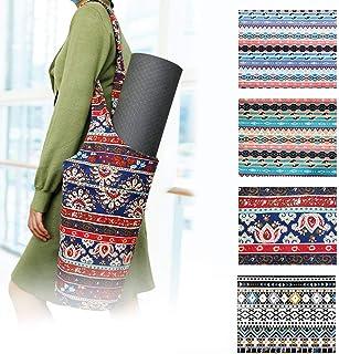 LIANGZHILIAN 瑜伽垫包和帆布民族风格,适合大多数尺寸的垫子
