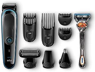 Braun 博朗Multigrooming毛发护理套装MGK3080, 剃须修剪刀, 剃头刀, 身体毛发清理刀头, 吉列刮胡刀, 黑色/蓝色