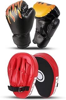 Odoland 2 合 1 拳击手套套装,拳击手套聚焦垫,Taewondo 踢垫,适合拳击、踢腿、手道、泰拳、MMA 训练