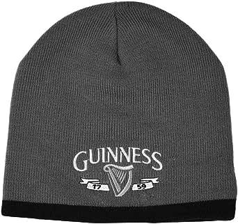 Guinness 无檐小便帽,银色标志,黑色装饰,灰色