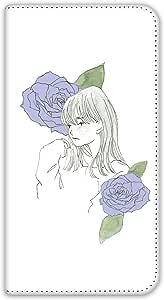 卡丽 壳 双面印刷手册 女孩和玫瑰 智能手机壳 手册式 对应全部机型 女の子とバラD 3_ Galaxy S6 edge 404SC