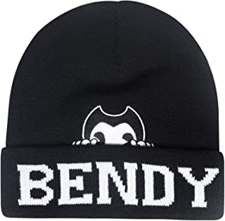 Bendy and the Ink Machine 无檐小便帽 - 黑色和白色弯曲帽 - Bendy 无檐小便帽