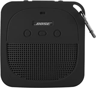 TXEsign 保护性硅胶立式保护套适用于 Bose Soundlink Micro 防水蓝牙便携式扬声器(深灰色)