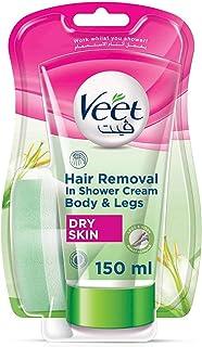 Veet 薇婷 淋浴脱毛膏 适合干性皮肤 1 件装(1 × 150 毫升)