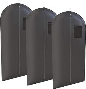 Your Bags 套装、连衣裙、礼服、礼服、服装旅行包 3 件装,137.16 cm - 男式和女式 Black With Large Square Window One_Size NW54BBTUX-3PK