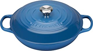 Le Creuset高级铸铁浅砂锅 30厘米 马塞蓝色