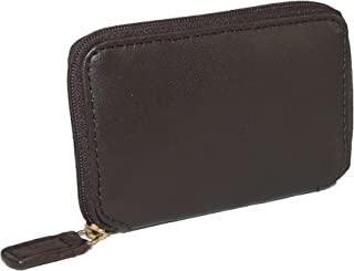 Winn International 男士皮革拉链钥匙包,棕色