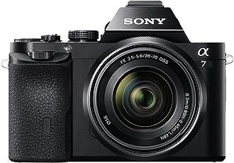 Sony 索尼 ILCE7KB.CE全画幅紧凑型系统相机(28-70 mm变焦镜头24.3 MP,117点混合自动对焦,3英寸可倾斜LCD,5 FPS,XGA OLED Tru-Finder) - 黑色