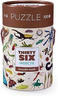 Crocodile Creek 36种昆虫 100片拼图 罐装