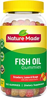 Nature Made 萊萃美 Fish Oil Adult Gummies Nutritional Supplements, Value Size, 150 Count