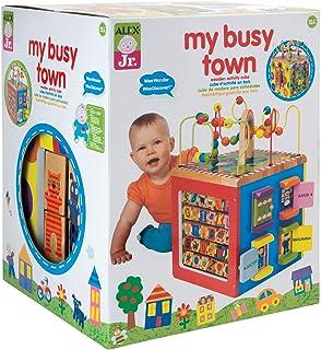 ALEX Toys 我的繁忙小镇,木制立方体玩具,儿童美术和手工艺品活动
