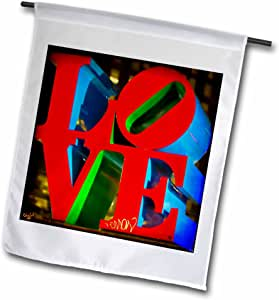 CHRIS lord 地标–雕塑 LOVE PHILADELPHIA–旗帜 12 x 18 inch Garden Flag