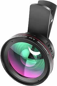 Macro 镜头 iphone 相机镜头套件,15X 微距和广角镜头手机相机镜头适用于 iPhone 8 7 6s 6 Plus iPad Samsung Galaxy S8 S7 S6 Plus/Edge/Pro 和其他智能手机 Zakitane712492217230 多色