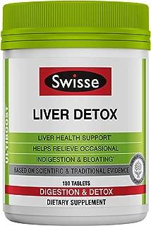 Swisse Ultiboost Liver Detox 奶蓟、朝鲜蓟和姜黄 180 粒