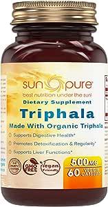 Sun Pure 优质*三叶草 500 毫克 素食胶囊 玻璃瓶 60 粒 - 促进天然内部清洁 - 支持**功能 - *特性
