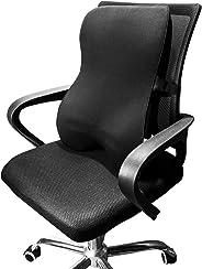 Dreamer 汽车支撑*泡沫全靠背支撑汽车/办公椅,椅垫采用 3D 网罩平衡柔软设计,缓解科学*,黑色