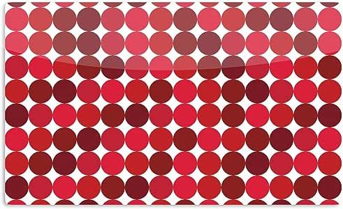 "KESS InHouse KESS Original""Noblefur Red""圆点艺术铝磁铁,5.08 厘米 x 7.62 厘米,多色"
