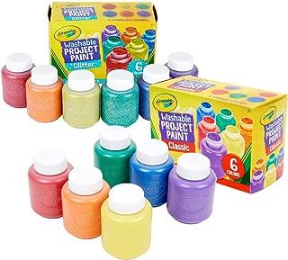 Crayola 可洗兒童顏料,含閃光顏料,12 支裝