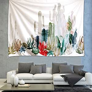 """iLeadon Tapestry Prickly Pear Cactus Tapestries Wall Hanging - Polyester Fabric Wall Headboard Decor for bedroom (60""""H x 80""""W, Cactus Landscape)"""