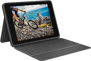 Logitech 罗技 iPad (* 7 代)坚固对开式保护套,带智能连接器和防溅键盘,石墨色