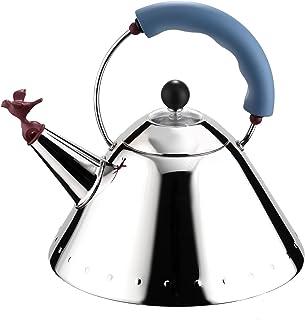 ALESSI 阿莱西 9093B 水壶不锈钢带提手小鸟形状壶嘴聚酰胺