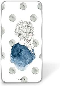 卡丽 壳 透明 硬质 印刷 女孩和圆点 智能手机壳 对应全部机型 女の子とドットE 21_ Android One S3