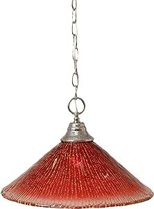 Toltec Lighting 链式悬挂吊坠带 40.64 厘米覆盆子水晶玻璃 10.25