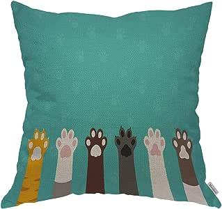 Moslion 抱枕套 7 条生命规则励志引语棉麻靠垫套 适用于沙发/沙发/厨房/汽车/男孩 Gilrs 卧室客厅 45.72 x 45.72 cm 枕套 Multi 05 18X18 inch ANOBIS-QC05