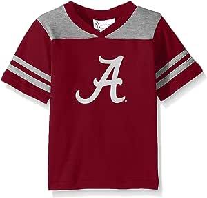 NCAA 阿拉巴马大学红潮队幼儿男孩橄榄球衬衫,深红色,4