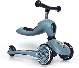 Highway Kick 1 – Scoot & Ride 2 合 1 滑板带座椅,灰白色 钢