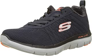 Skechers 男式 FLEX advantage 2.0-golden 点低帮运动鞋*蓝/蓝色美国尺码