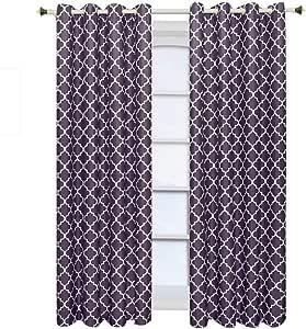 """Royal Hotel Meridian 索环遮光窗帘板,一片/2 片装 紫色 104""""X63"""" Pair"""