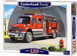Castorland 巧思 进口儿童拼图 120片 消防车B-12831(新老包装 随机发货)