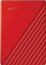 Western Digital 2TB My Passport 便携式外置硬盘,红色 - WDBYVG0020BRD-WESN