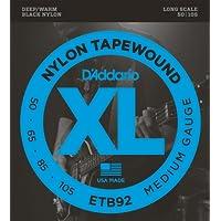 D'Addario 达达里奥 Black Nylon Tapewound ETB92 50-105 常规款贝斯弦