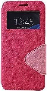 Roar Galaxy S8 SC-02J SCV36 对应 手册式 薄型 纤细 轻量 带窗口 壳 支架功能 穿带孔 Diary ViewCGAS8-BFDiaryView-PK 粉色