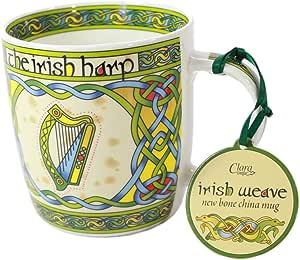 爱尔兰编织 骨瓷 马克杯系列 饰有爱尔兰祝福印花 黄色 na