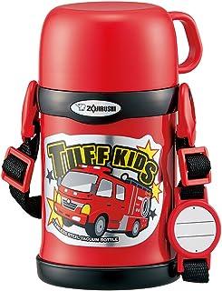 ZOJIRUSHI 象印 儿童不锈钢水杯 保冷 运动型 两用式 吸管&杯盖 红色 450ml SC-ZT45-RA